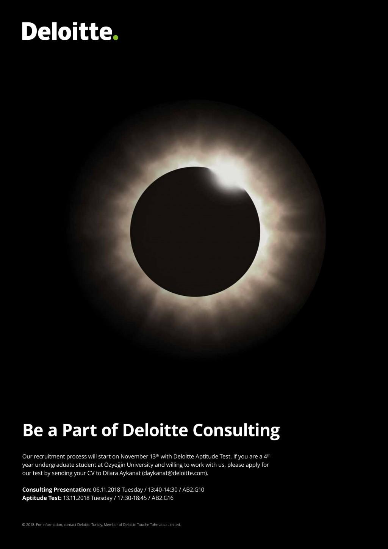 Be A Part Of Deloitte Consulting | Özyeğin University