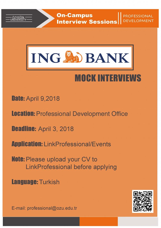 Ing Bank Mock Interviews